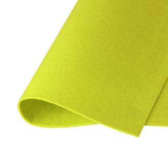 Фетр корейский жесткий 1.2мм, 20х30см, №16 Лимонный
