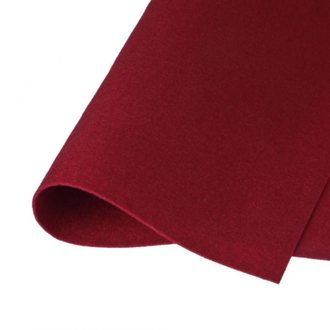 Фетр корейский жесткий 1.2мм, 20х30см, №15 Бордовый