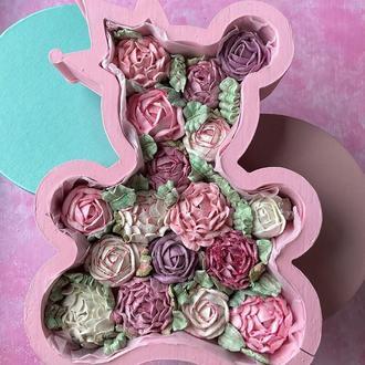 Зефирные цветы в пенобоксе
