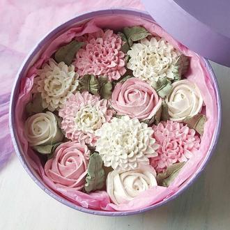Шляпная коробочка Розы и Хризантемы