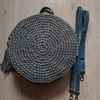Круглый рюкзак из полиэфирного шнура