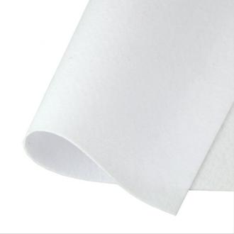 Фетр корейский жесткий 1.2мм, 20х30см, №1 Белый