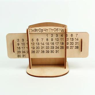 Органайзер для канцелярских принадлежностей из фанеры в форме Календаря (2296)