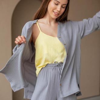 Жіночий костюм (штани палаццо+накидка)