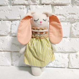 Мягкая игрушка Зайчик Сплюшка Плюшевый зайка для сна детей