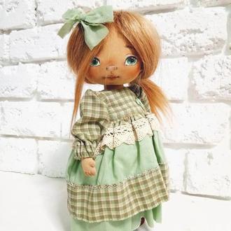 Текстильная Интерьерная кукла Ксюша Авторская кукла декоративная
