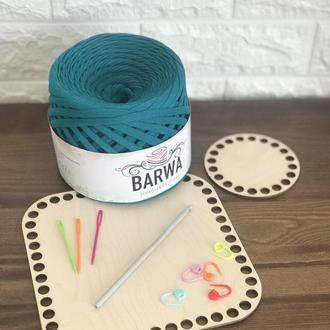 Набір для в'язання фанерне дно маркери голки трикотажна пряжа BARWA для вязання гачком