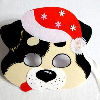 Новогодняя маска собаки