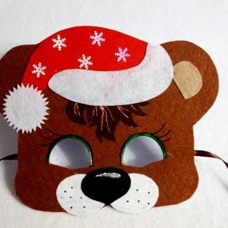 Новогодние маски медведей