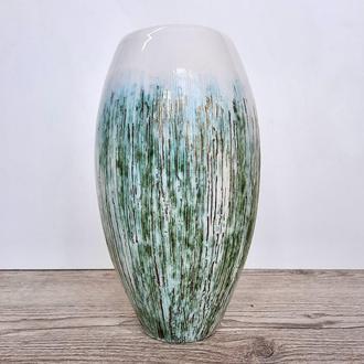 Керамическая ваза для цветов. Керамическая ваза ручной работы. Современная Белая ваза для цветов