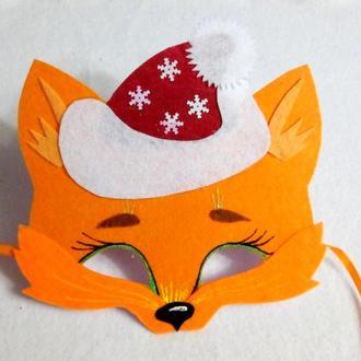 Новогодняя маска лисенка