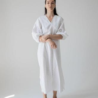 Платье свободного фасона с воротничком. Этно коллекция