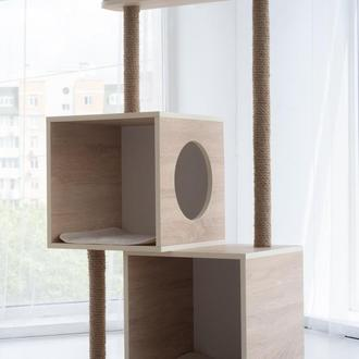 Комплекс для котов Pets Lounge Cat Complex (с когтеточкой и домиком), модель 1