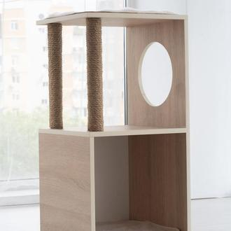 Комплекс для котов Pets Lounge Cat Complex (с когтеточкой и домиком), модель 5