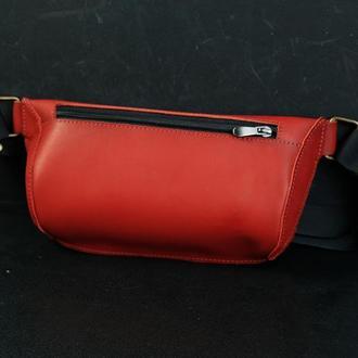 """Сумка """"модель №70 мини"""" с фастексом, кожа итальянский краст цвет красный"""