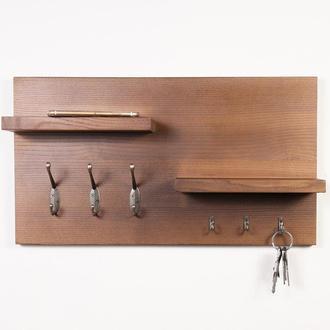 Дерев'яна полиця настінна Rustic Shelf DS30 - Olha з дерева