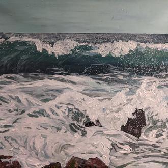 Картина море, морской пейзаж