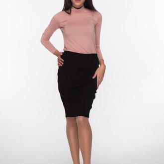 Трикотажная юбка-карандаш черного цвета