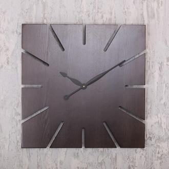 """Деревянные настенные часы """"Wooden Sun 60 cm"""" из высокогорного ясеня"""