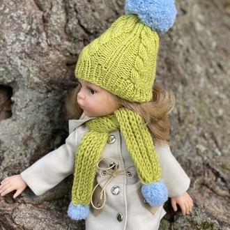 Вязаный набор одежды для куклы Паола Рейна, Шапка и шарф для Paola Reina, Вязана шапочка Паола Рейна