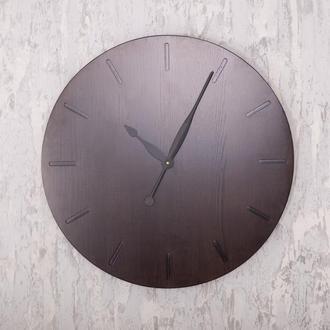 Деревянные настенные часы Dabo Classic Ø60 - Dark Wenge