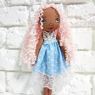 Текстильная кукла Ангел с нарисованным лицом Авторские куклы