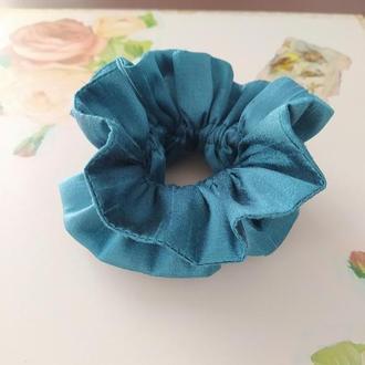 Скранч резинка для волос из сатина браслет резинка из ткани ручная работа