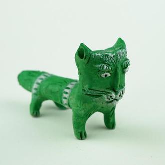Трубка для курения в виде кота зелёного