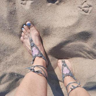 Браслеты на ногу  Креативный аксессуар для пляжа