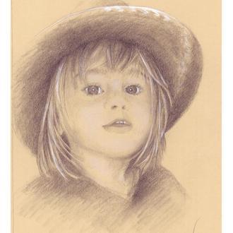 Портрет девочки в шляпе