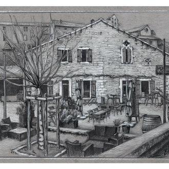Старый ресторан в Провансе, Франция