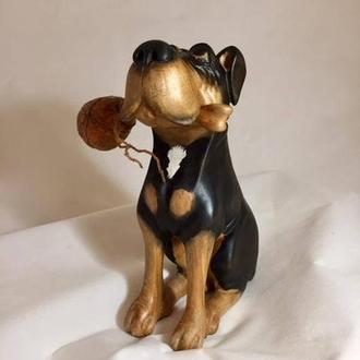 """Коллекционная статуэтка """"Собака с костью"""""""