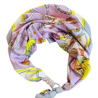 """Дизайнерский платок """"Утро в Марселе"""" от бренда my scarf, подарок женщине."""