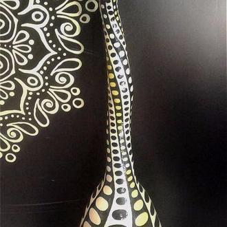 Ваза из тыквы декоративная