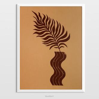 Інтер'єрна картина(гравюра) «Рослина в вазі 3» в сучасному стилі