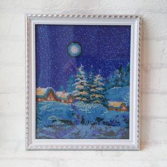 """Картина из бисера """"Волшебная зима"""""""