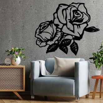 Панно из дерева Born for Art Розы Черное (PAN044)