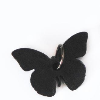 Кожаный кулон бабочка от мастерской Wild