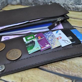 Кошелек для денег и телефона K41-brown capri
