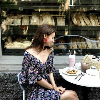 Романтическое платье с цветочным принтом