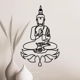 """Настенное панно из дерева """"Будда"""""""