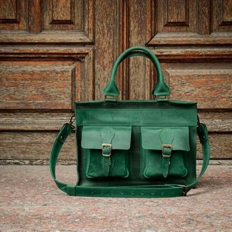 Деловой портфель под ноутбук, Кожаная сумка для документов