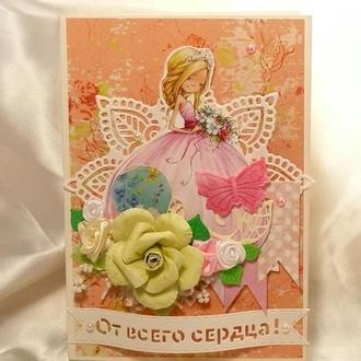 Открытка Фея роз