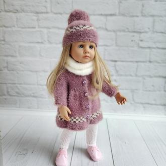 Вязаная одежда на куклу Готц 36 см