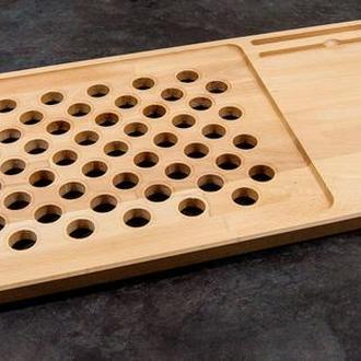 Подставка деревянная для ноутбука с отверстием под вентиляцию 600мм*300мм*20мм бук