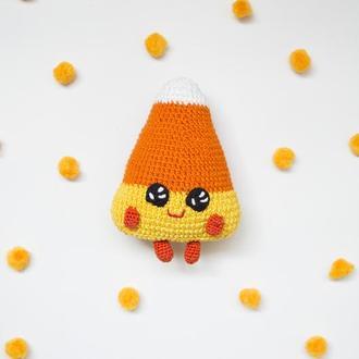 Конфетка Хэллоуин  мягкая игрушка крючком,амигуруми, декор детской