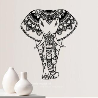 "Картина из дерева ""Слон"""