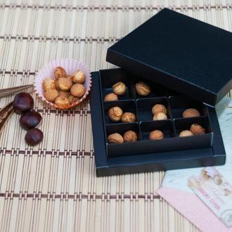 Коробка для конфет Черный матовый