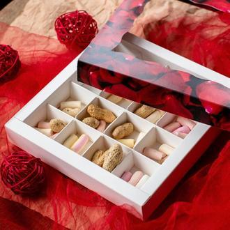 Коробка для конфет на 16 штук С окном