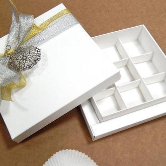 Коробка подарочная / упаковка 10 шт 13,5см х 13,5см х 3,5см, Белый